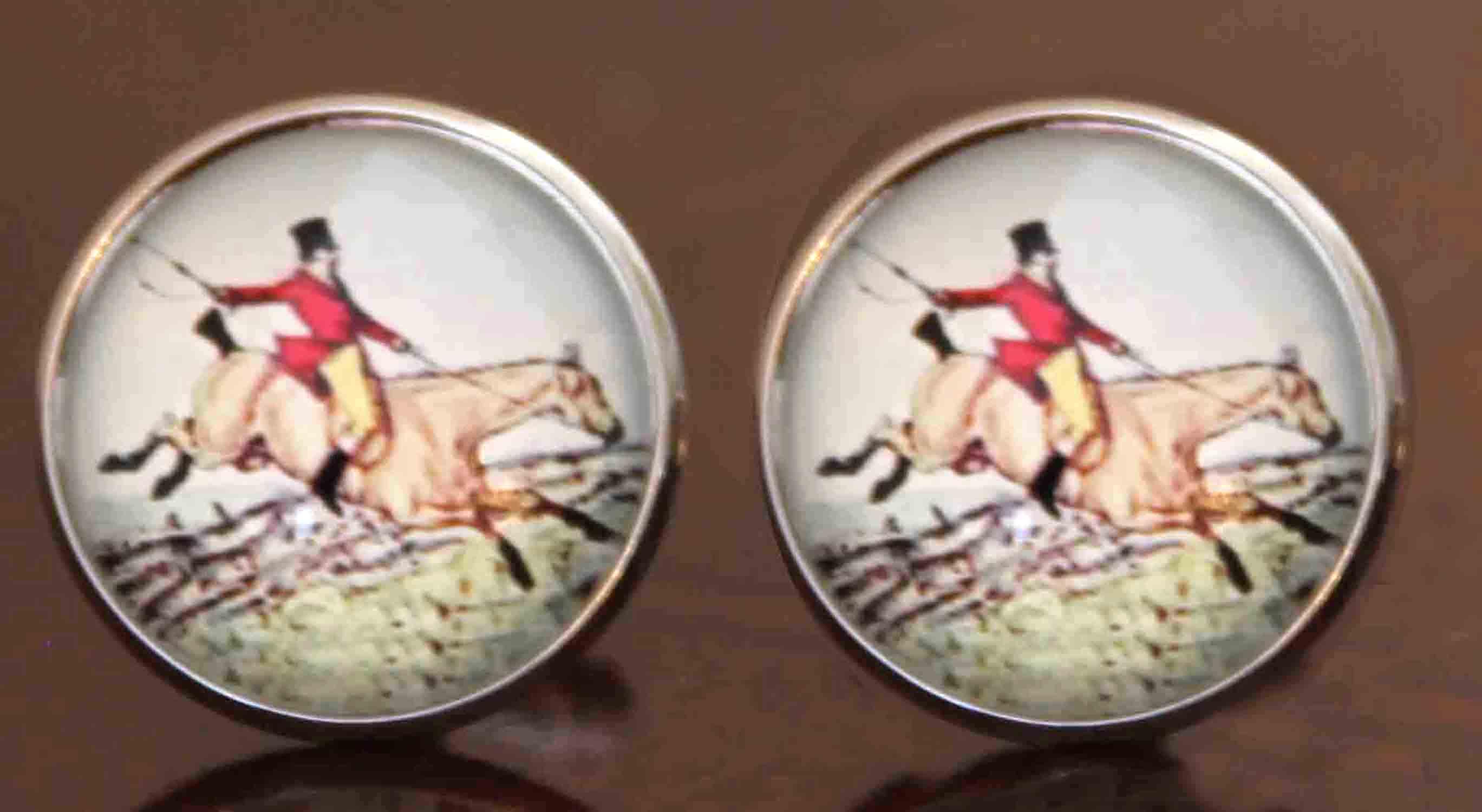 Gascoigne Fox Hunt Equestrian Cufflinks Men's