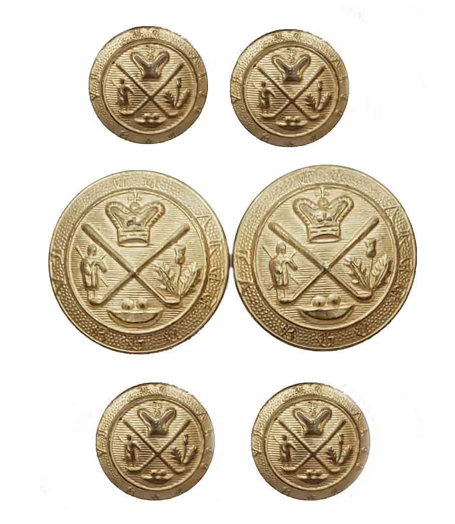 Vintage Britches of Georgetown Blazer Buttons Set Gold Brass Men's