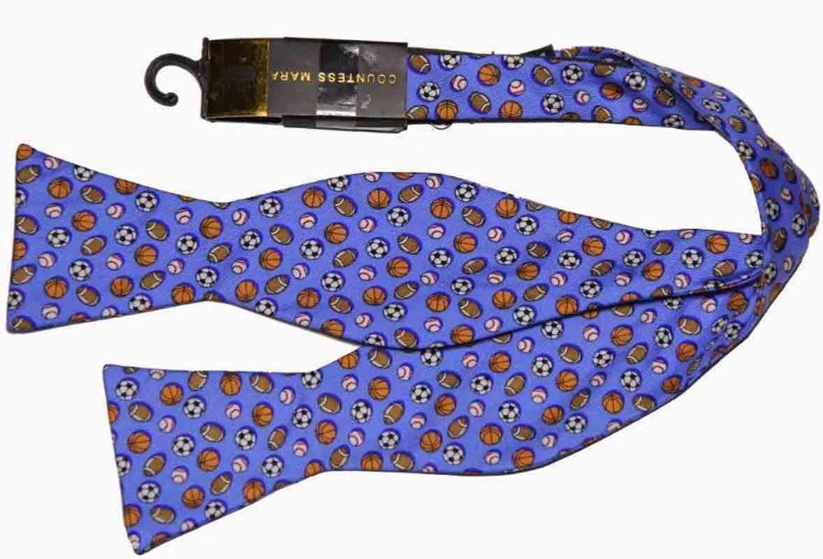 Countess Mara Bow Tie Multi-sports Sports Silk Blue Men's