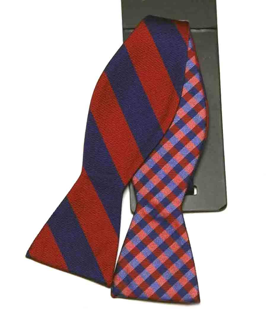 Countess Mara Bow Tie Repp Stripe Red Men's