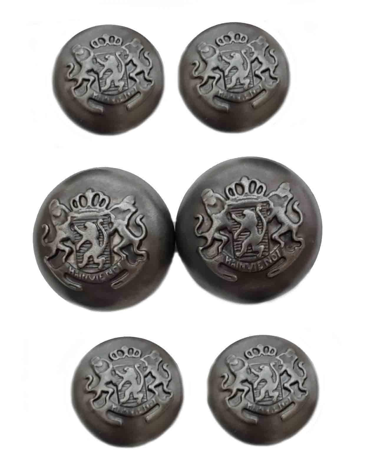Vintage Forecaster Jacket Coat Dome Blazer Buttons Gray Metal Crown Lions Shield Men's