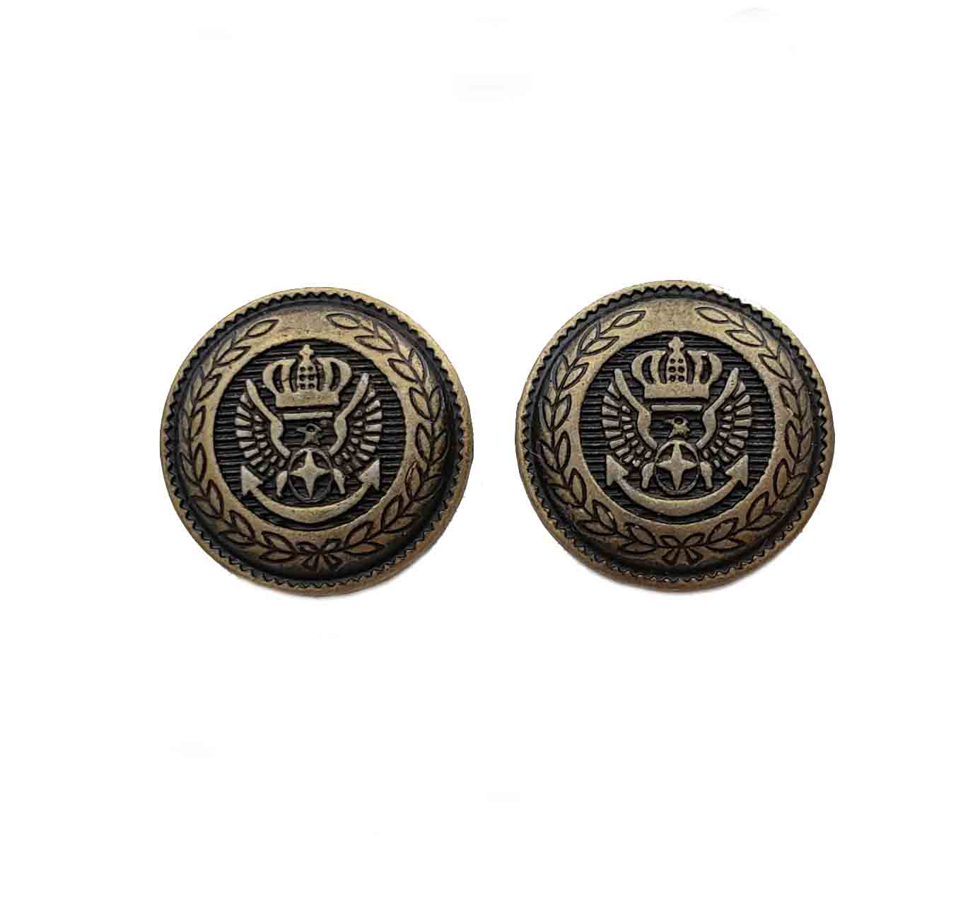 Two New Jos A Bank Blazer Replacement Blazer Buttons Antique Gold Brown Crown Eagle Anchor Men's