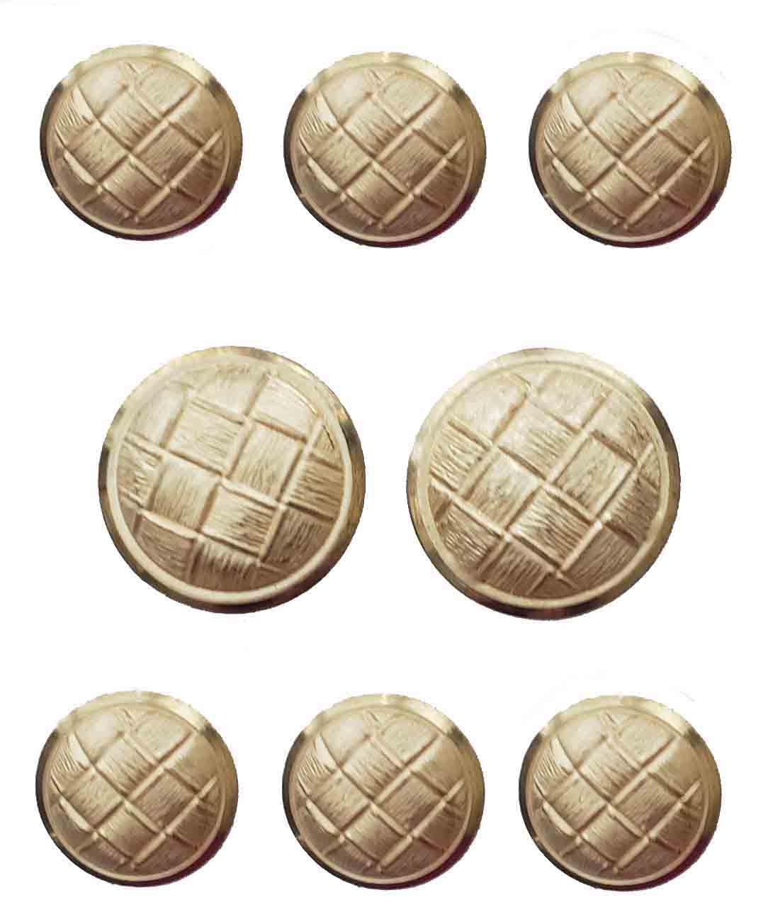 Vintage Stanley Blacker Blazer Buttons Set Gold Brass Shank Men's