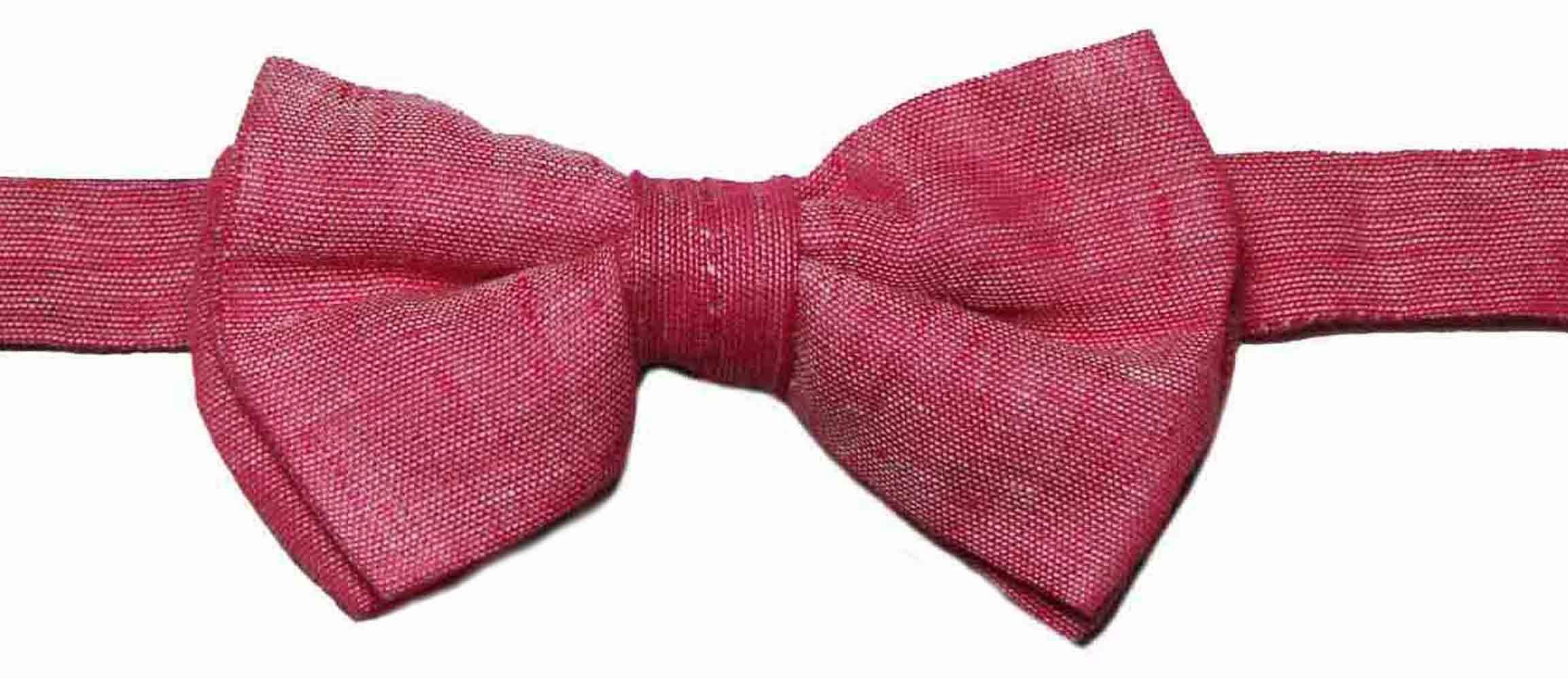 Ted Baker Bow Tie Italian Linen Pink Men's