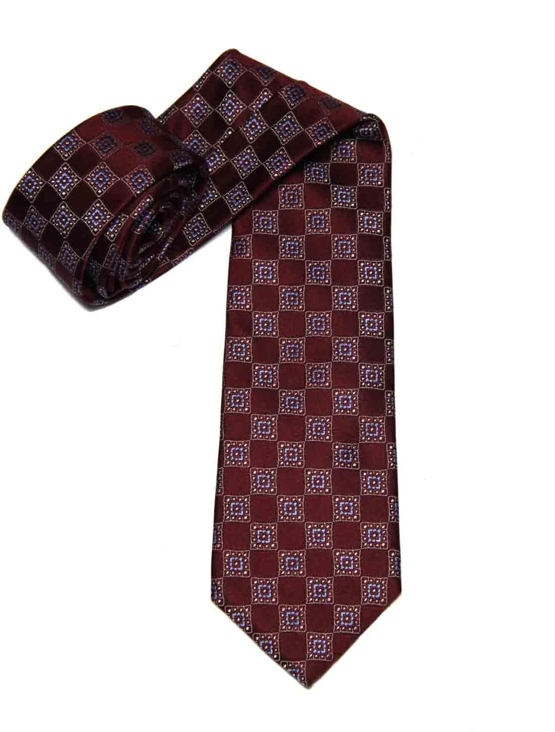 Brooks Brothers Tie Silk Red Blue White Geometric Men's