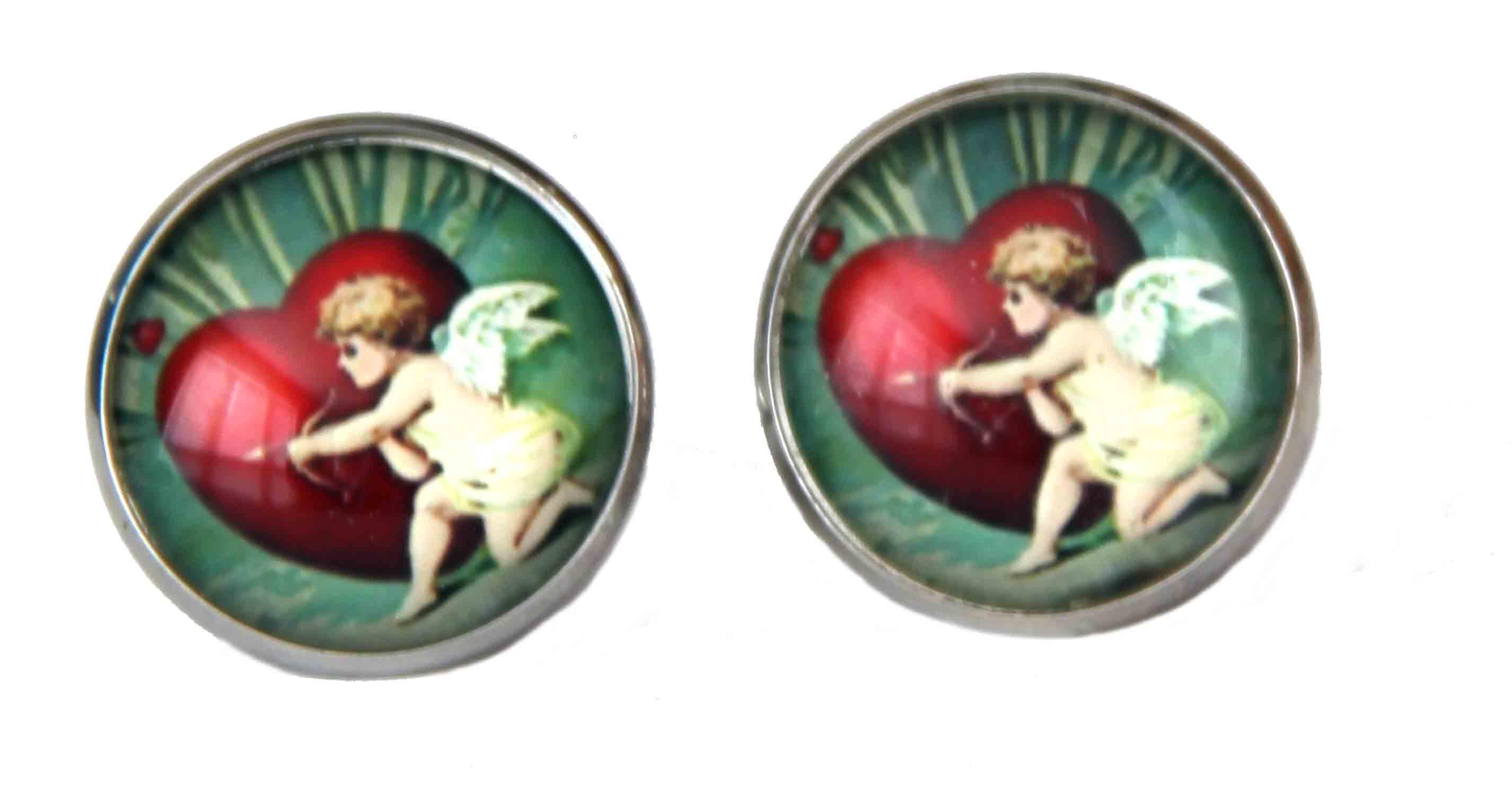 Gascoigne Cupid Heart Cufflinks Love Valentine Men's