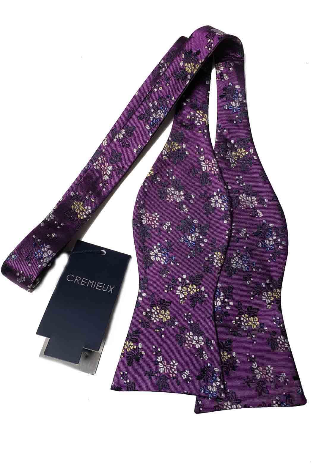 Daniel Cremieux Bow Tie Purple Floral Silk Men's