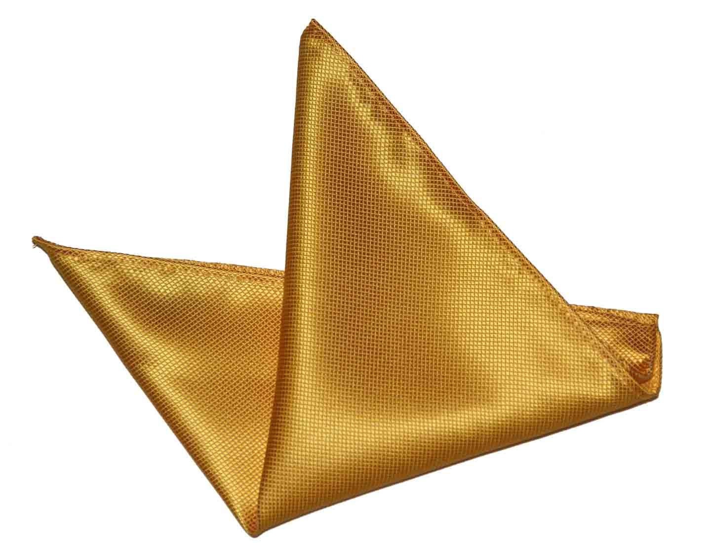 Gascoigne Pocket Square Silk Yellow Men's
