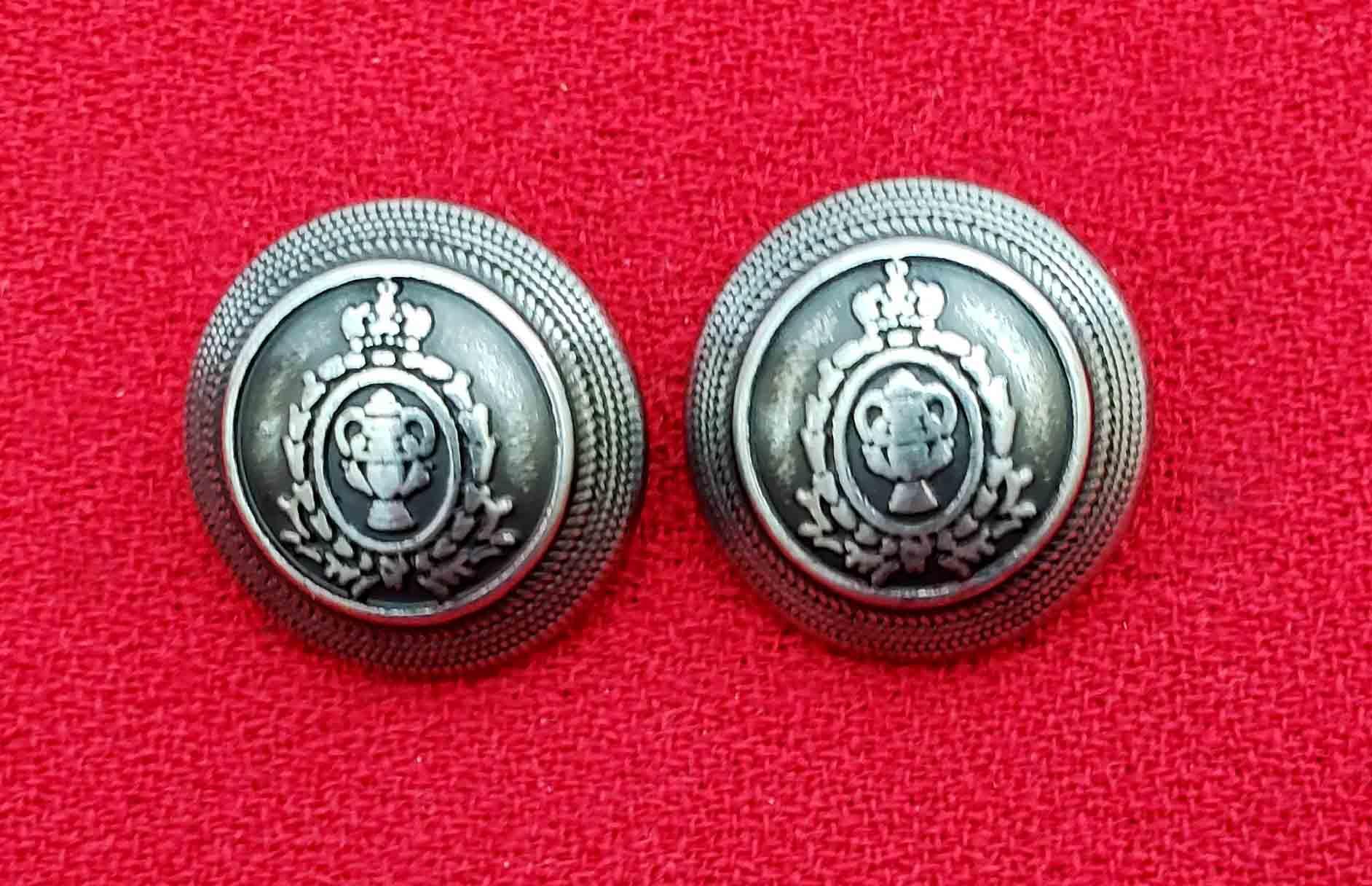 Two Aquascutum Dome Blazer Buttons Gray Silver Shank Metal Men's