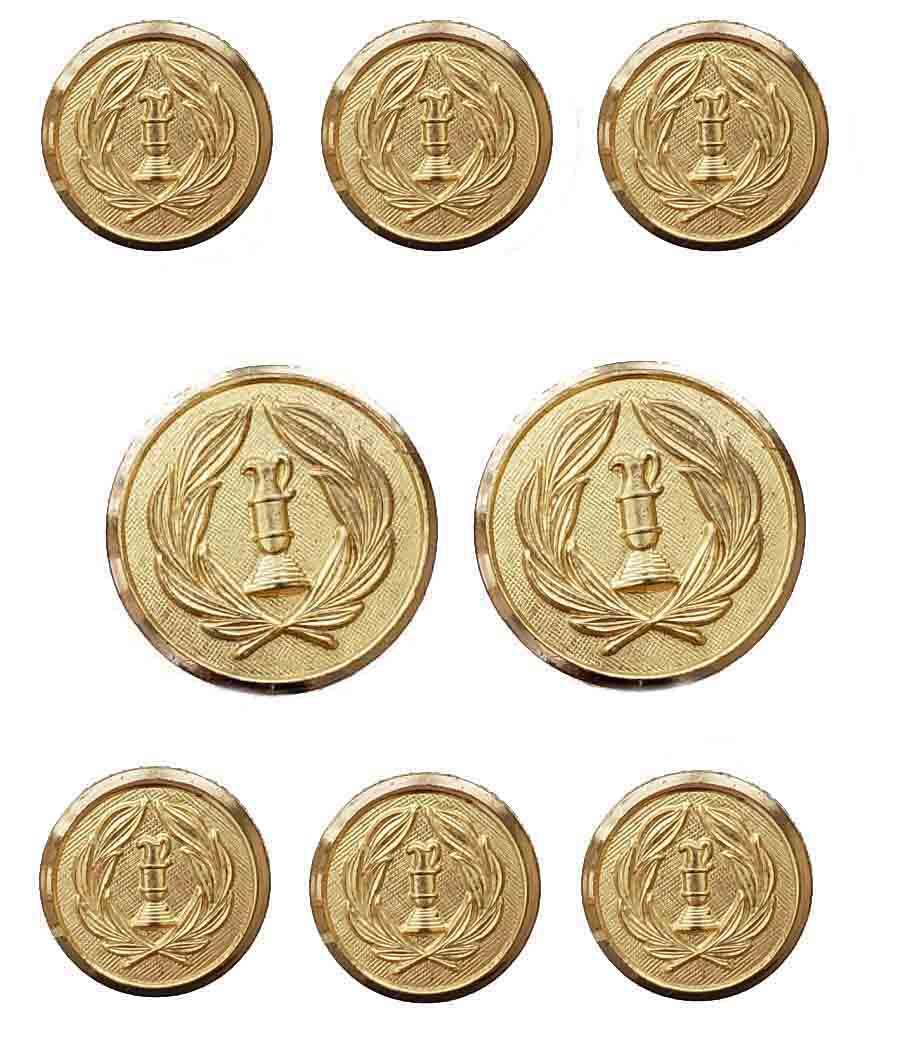 Vintage Hart Schaffner Marx by Waterbury Blazer Buttons Set Gold Brass Men's