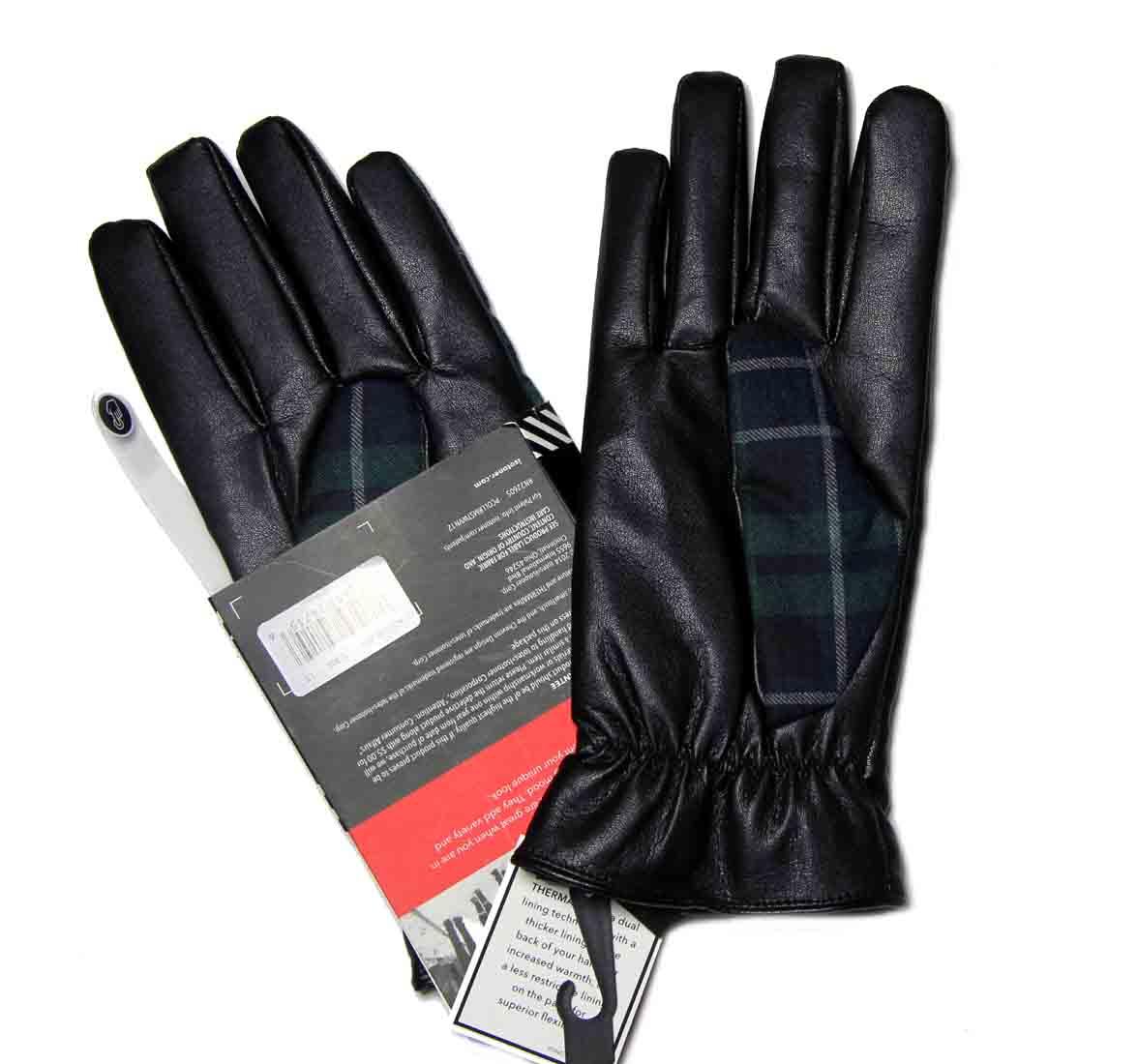 Isotoner Smartouch Gloves Plaid Men's Size Large