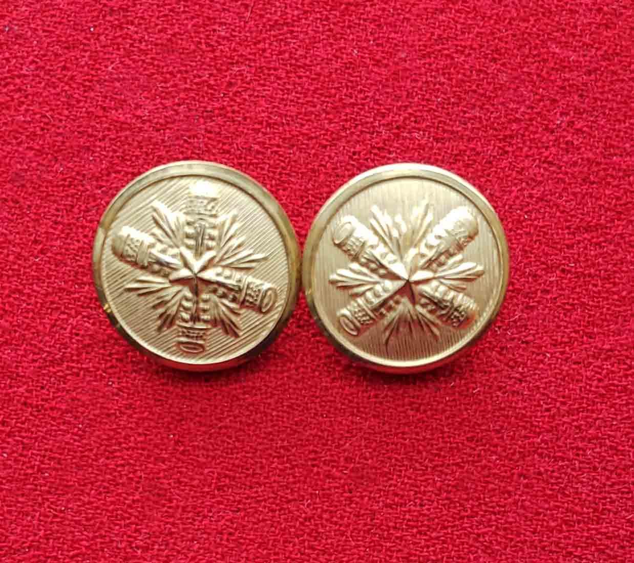Two Vintage Palm Beach by Waterbury Brass Blazer Buttons Gold Startbust Pattern Men's