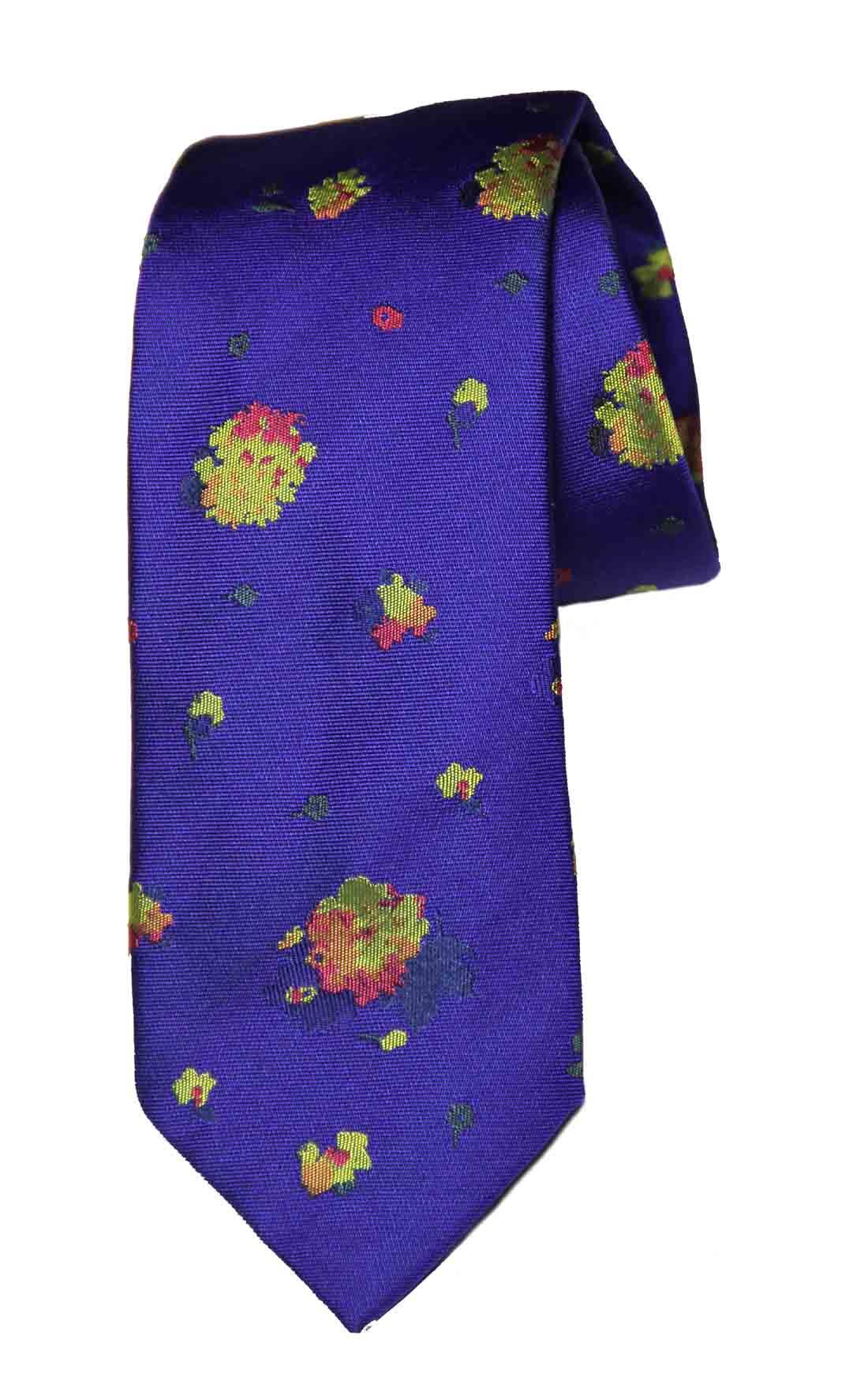 Thomas Pink Mitcham Flower Silk Tie Purple Yellow Green Orange Red Men's
