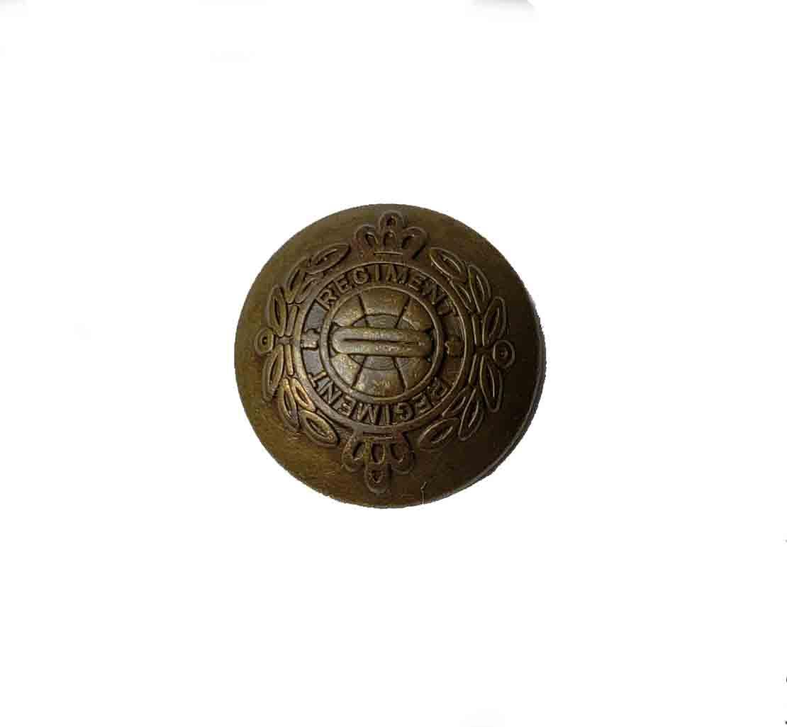 One Vintage Regiment Dome Replacement Blazer Button Antique Gold Brown Men's