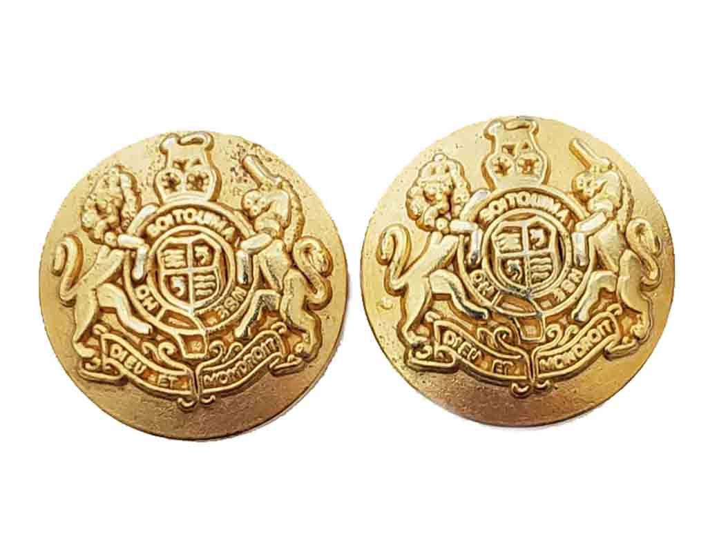 Two Vintage Britches of Georgetown Dome Blazer Buttons Gold Brass Lion Unicorn Men's 7/8 Inch