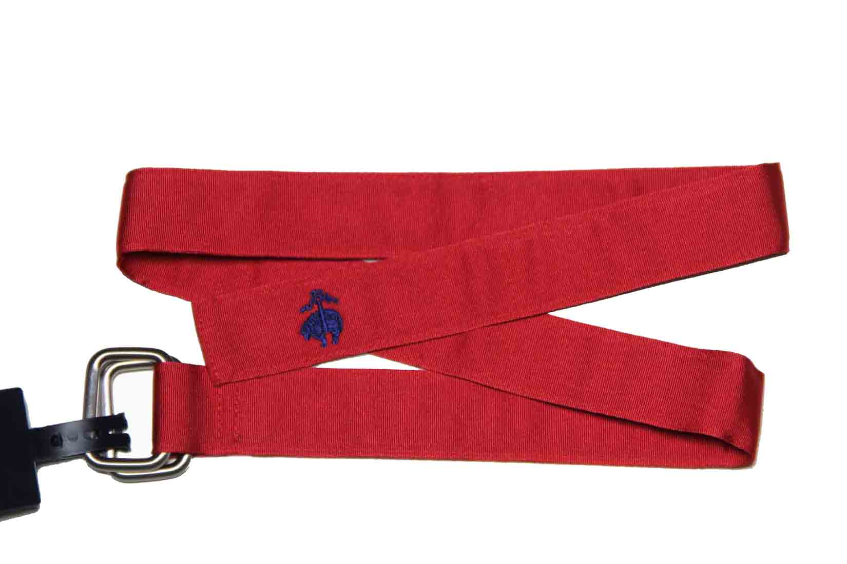 Brooks Brothers D-Ring Ribbon Belt Red Men's Size Small
