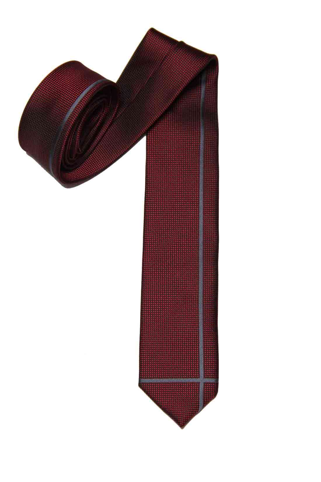 Folkspeare Skinny Tie Red Gray Men's