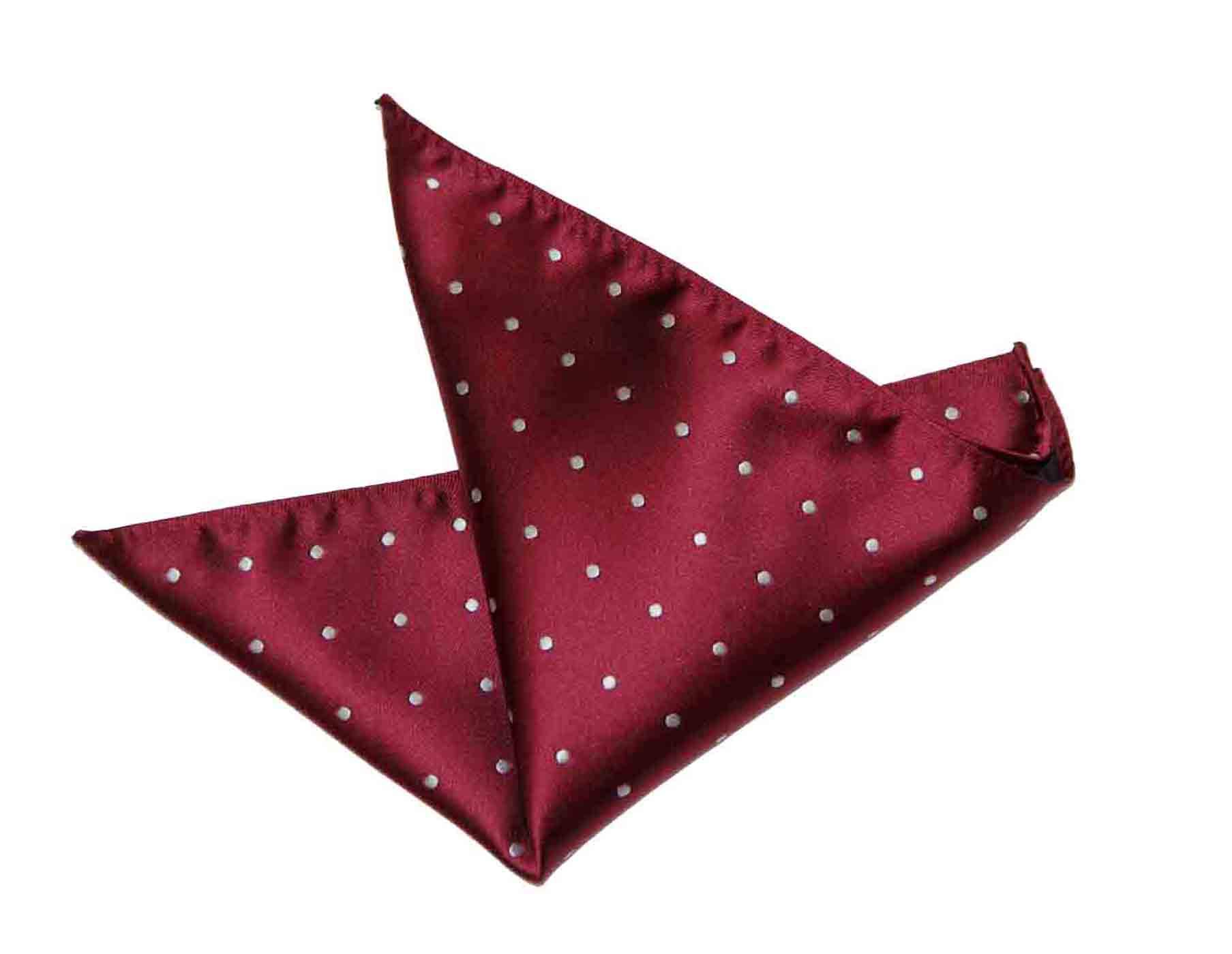 Gascoigne Pocket Square Silk Red Blue Polka Dots Men's
