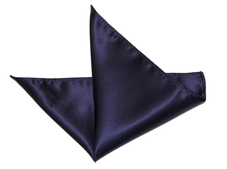Gascoigne Pocket Square Silk Navy Blue Men's
