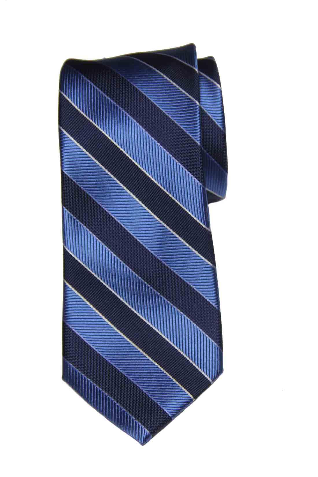 Jos A Bank Silk Tie Repp Stripe Navy Blue White Men's