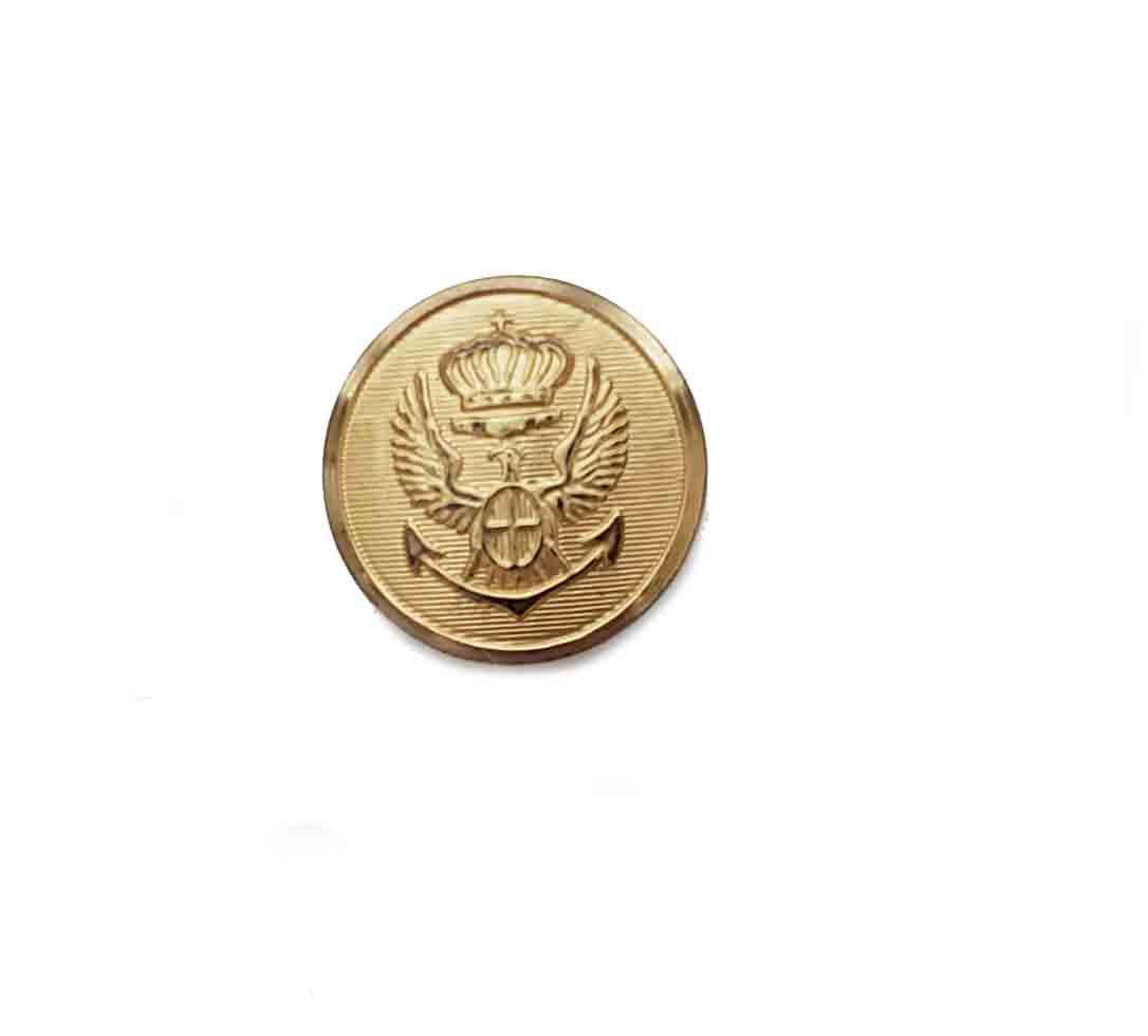 One Vintage Stanley Blacker Blazer Replacement Button Gold Brass Eagle Crown Anchor Men's
