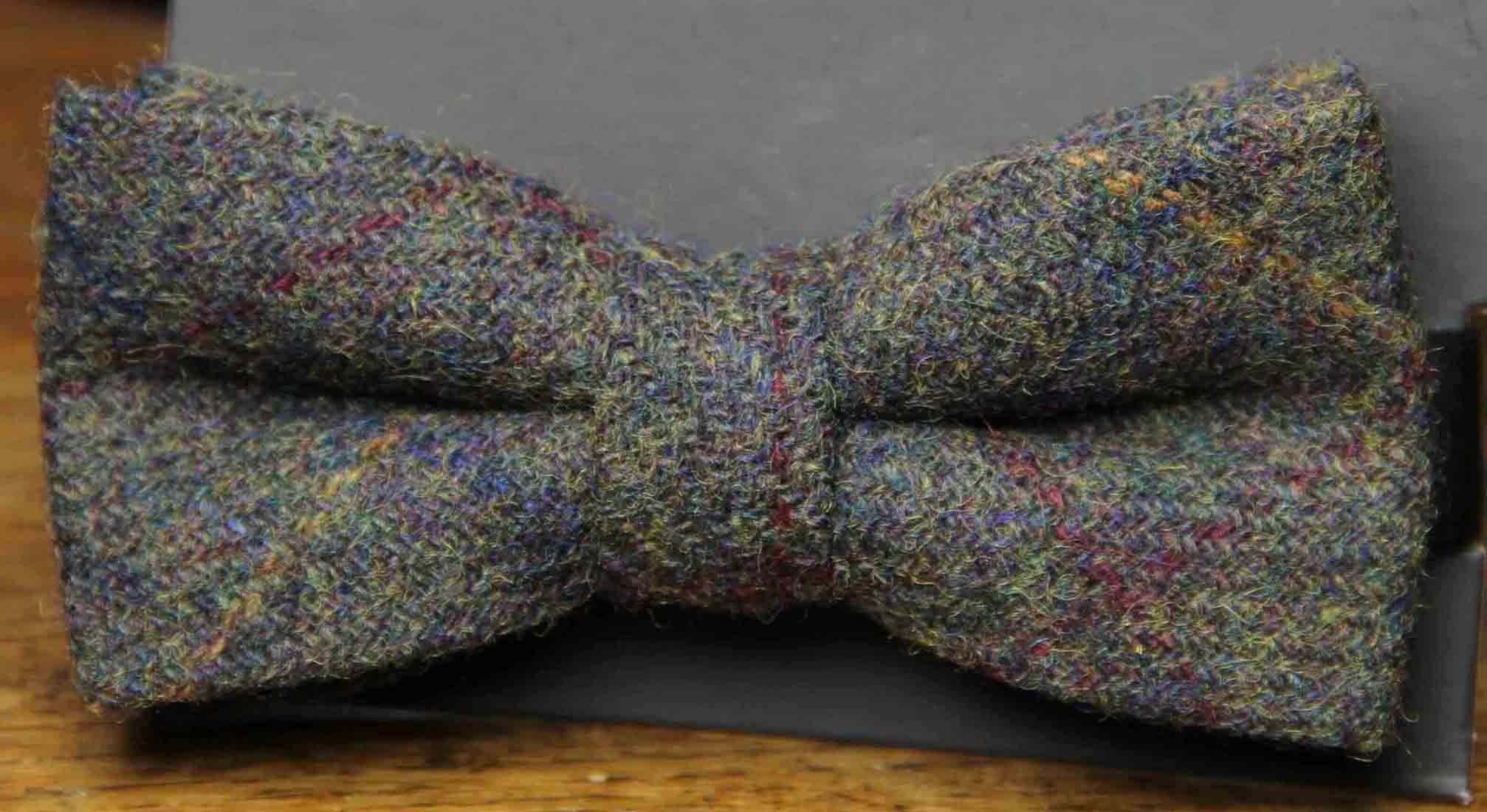 Men's Wool Tweed Bow Tie Olive Green Men's OS
