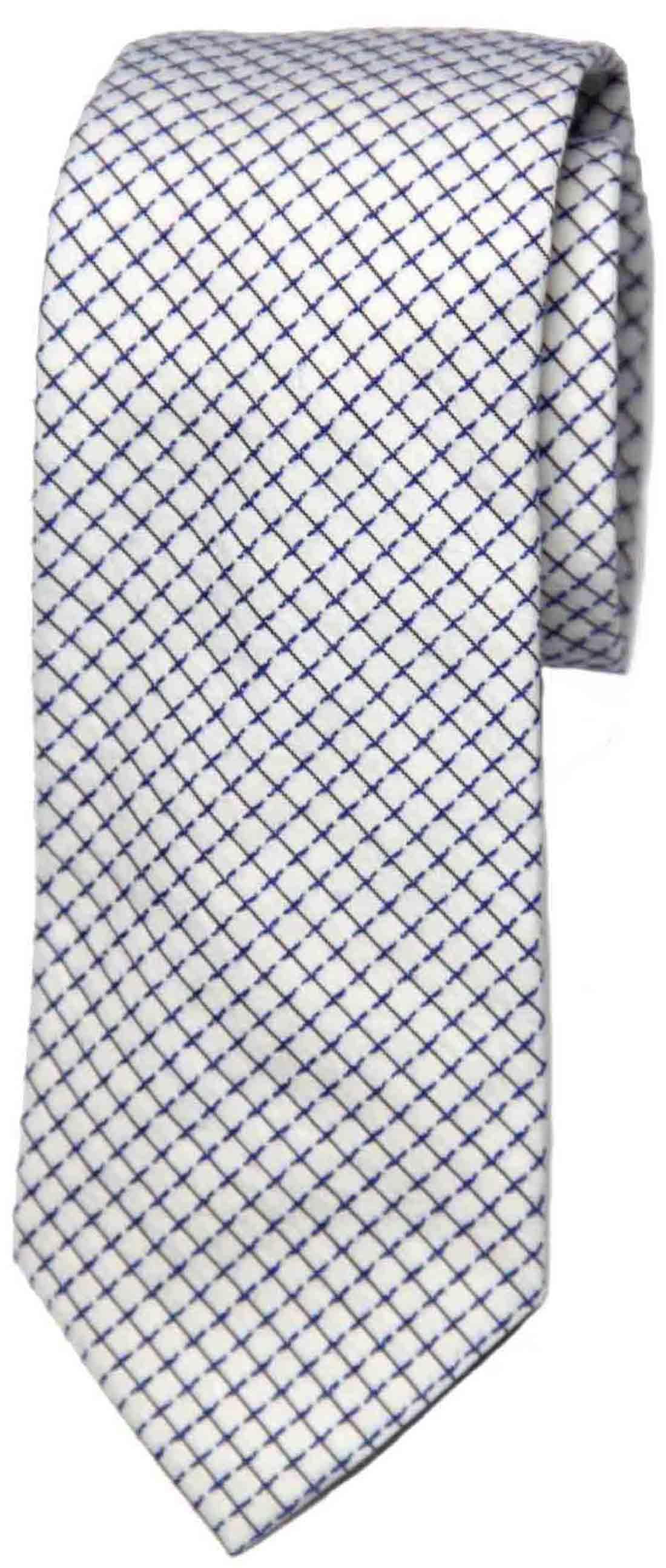 Armani Collezioni Tie Cotton White Blue Men's