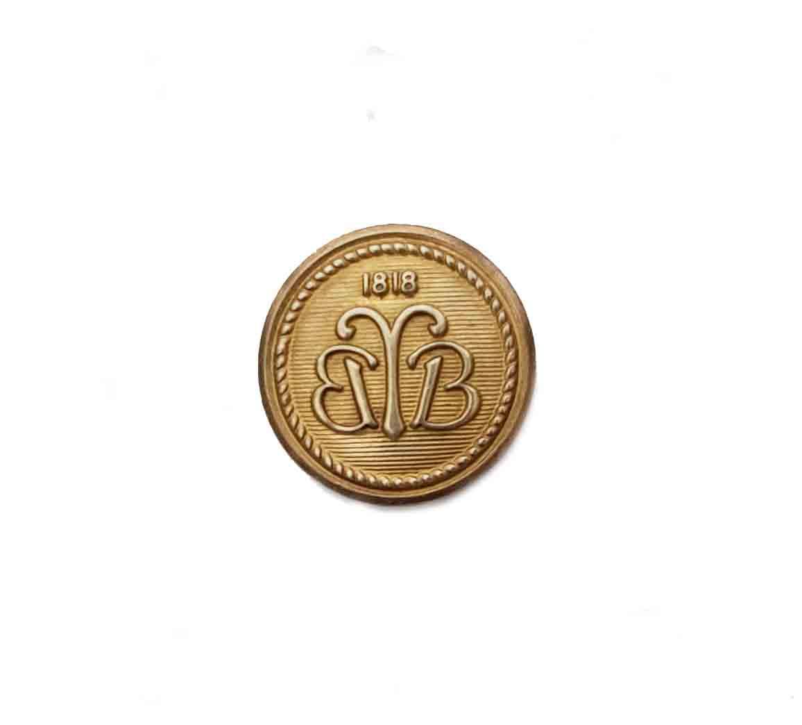 One Vintage Brooks Brothers by Waterbury Replacement Blazer Button Brass BB Monogram Gold Men's