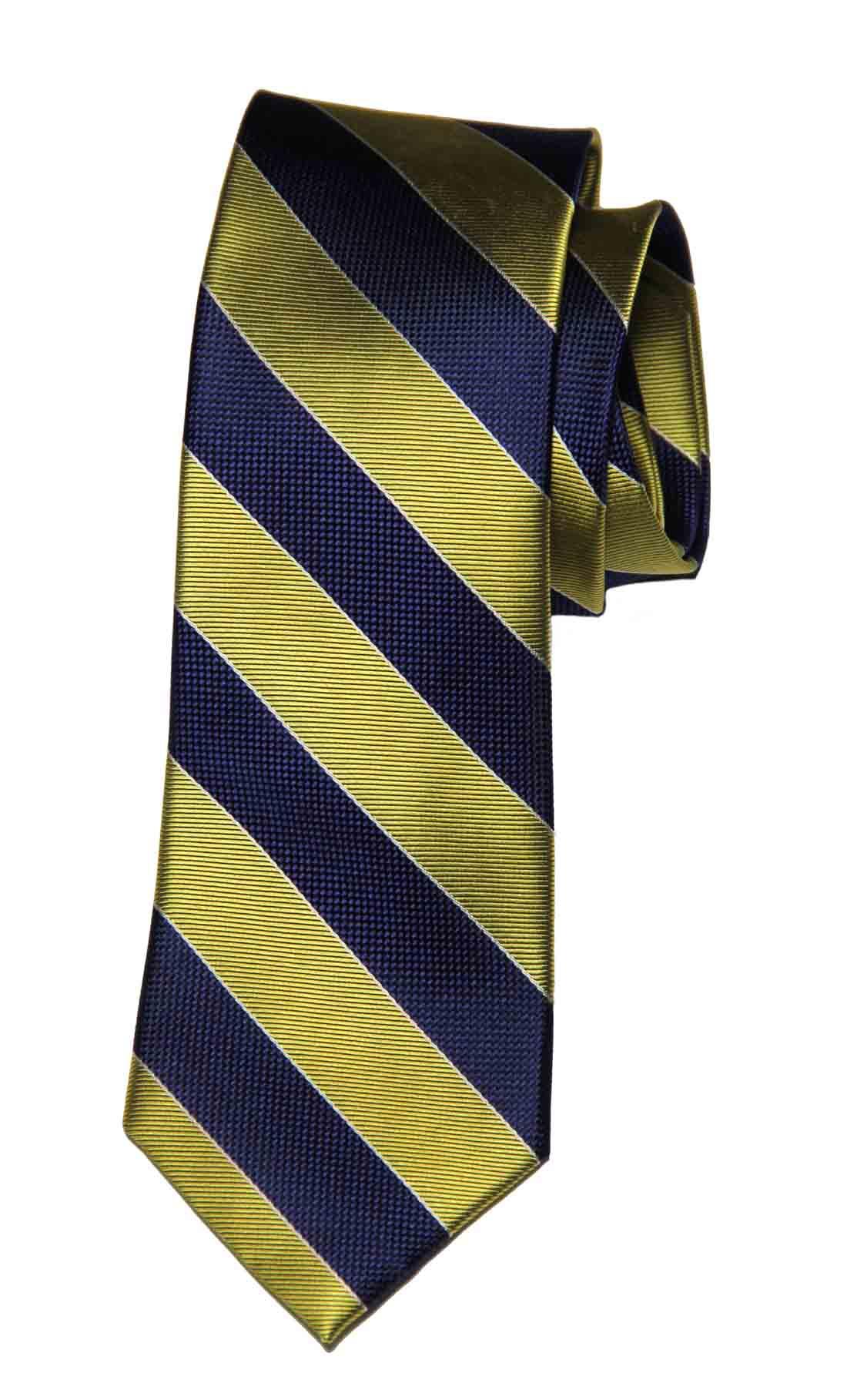 Club Room Repp Stripe Tie Silk Navy Blue Gold Men's