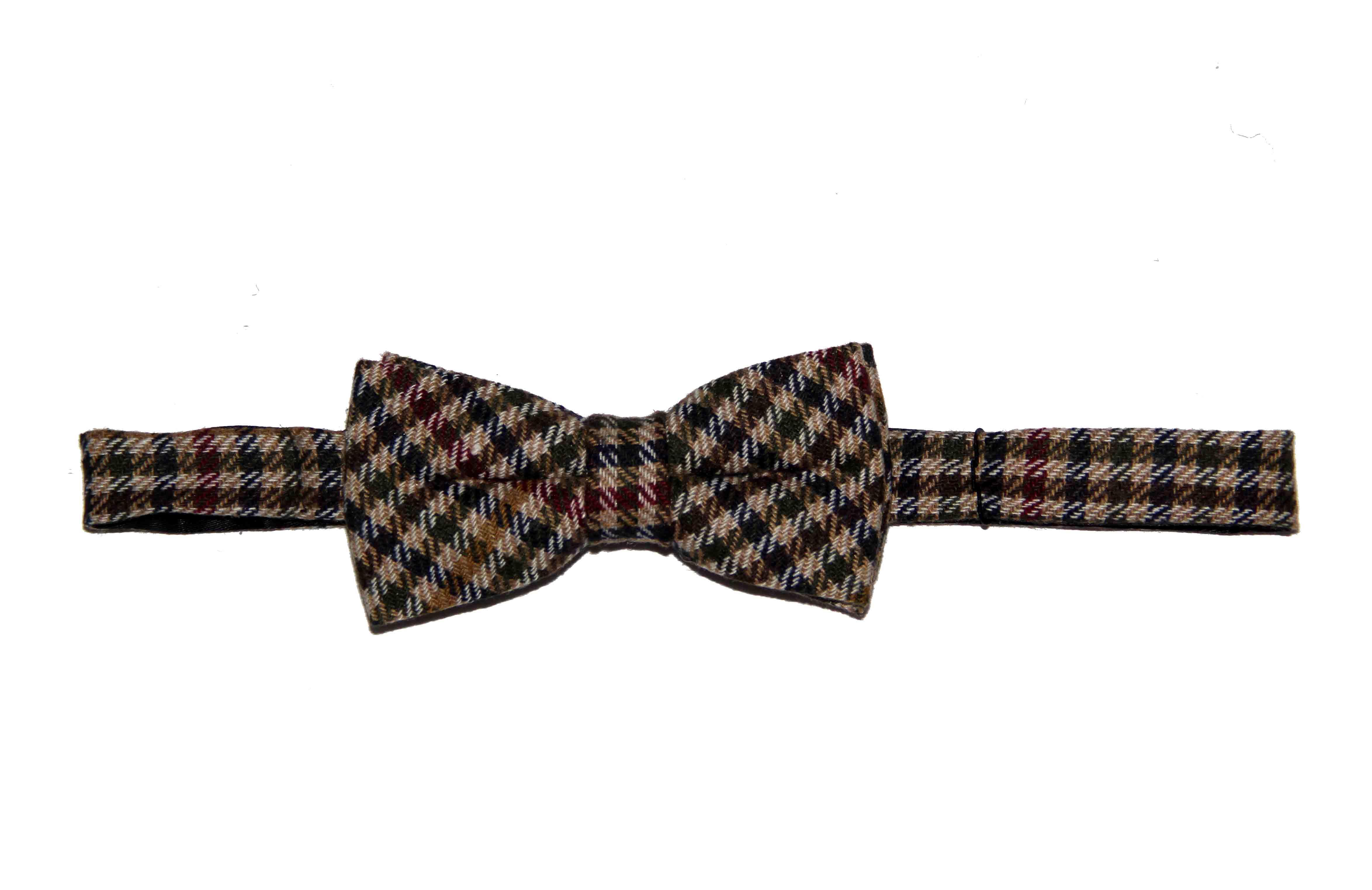 Gascoigne Bow Tie Wool Checkered Pre-Tied Men's OS