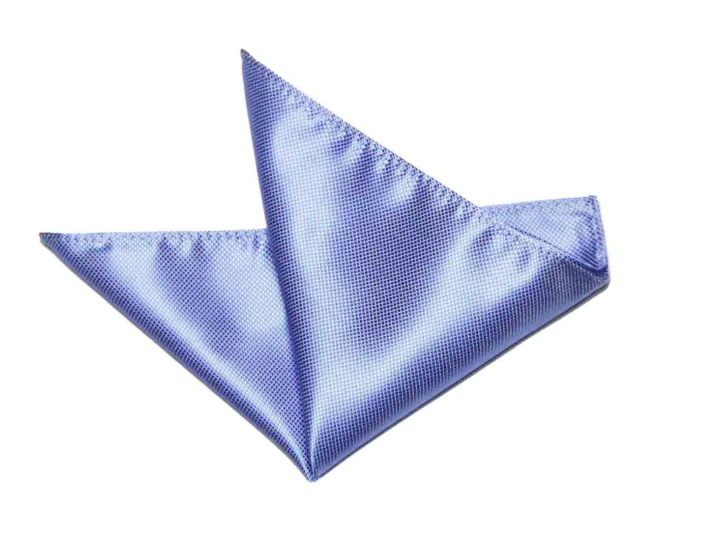 Gascoigne Pocket Square Light Blue Silk Men's
