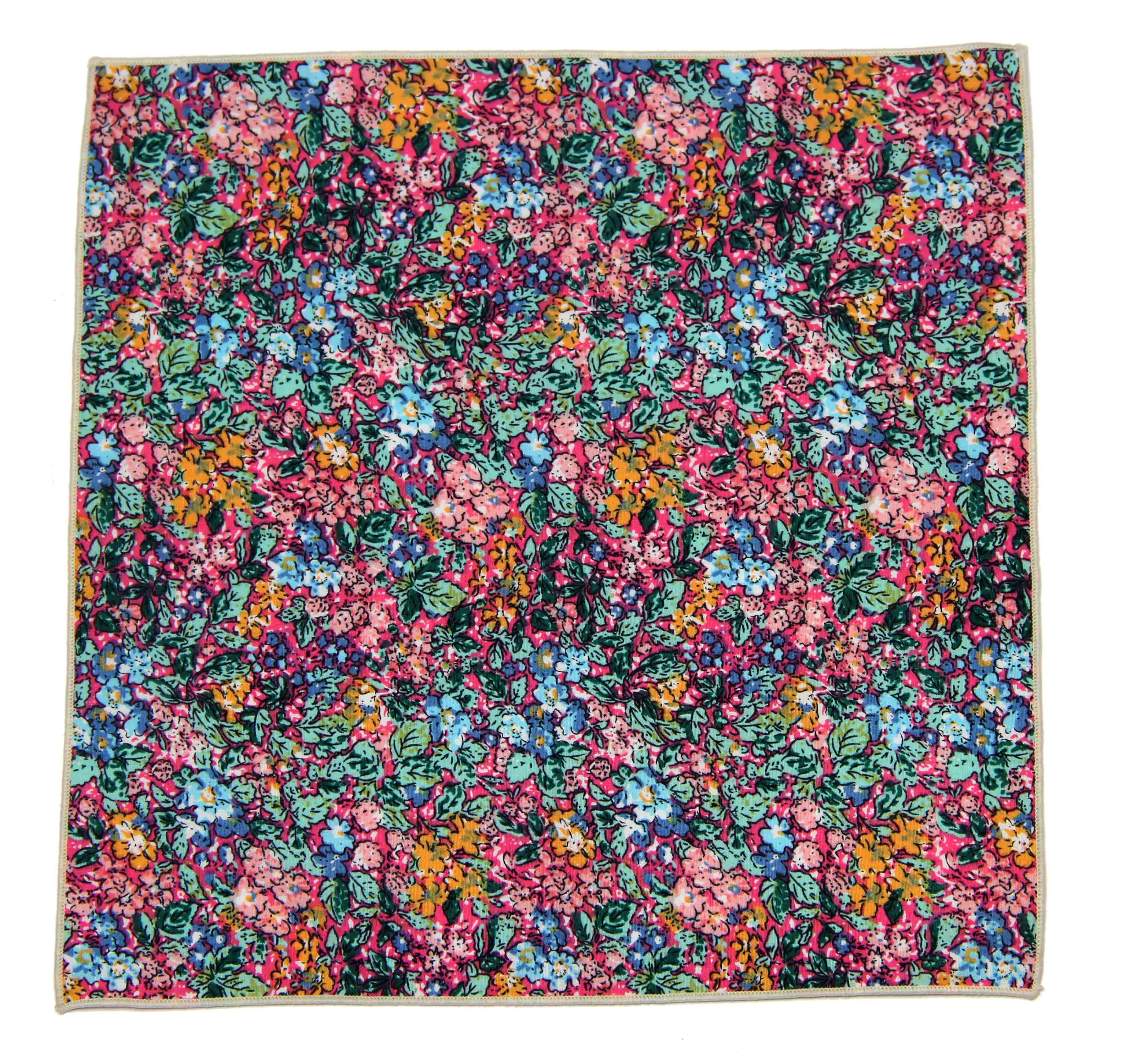 Gascoigne Pocket Square Cotton Floral Multicolor Men's