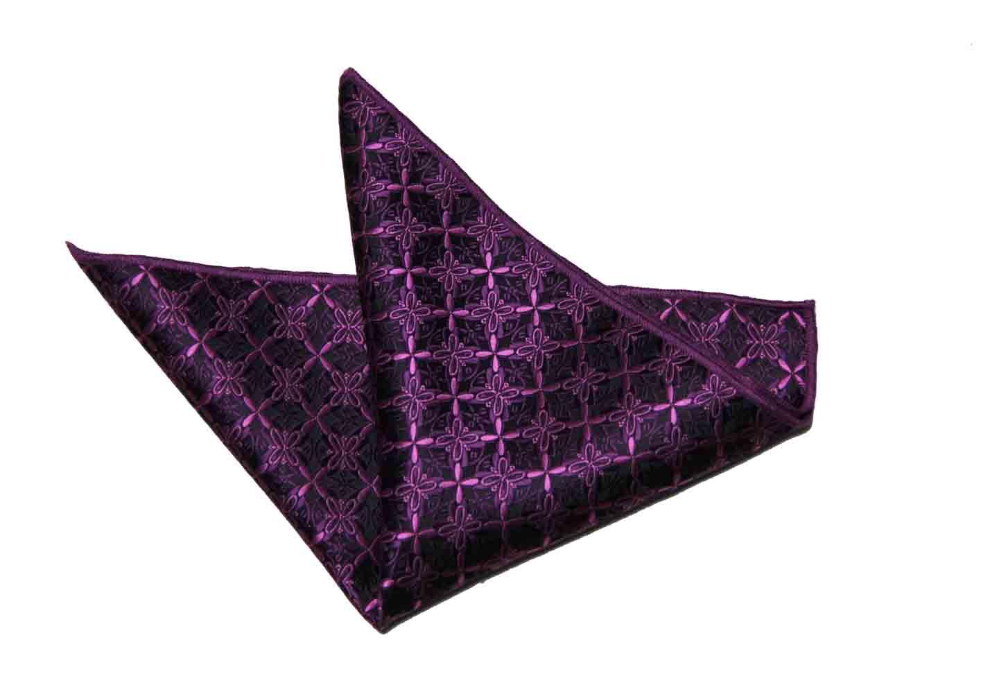 Gascoigne Pocket Square Purple Floral Men's