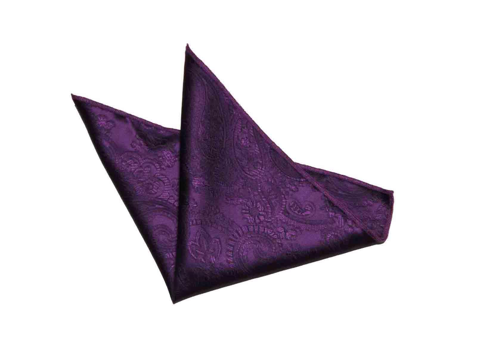 Gascoigne Floral and Paisley Pocket Square Purple Men's