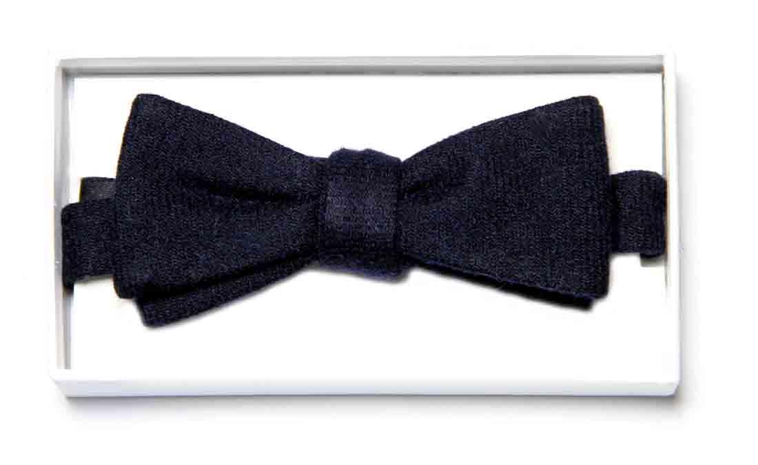 Mads Norgaard Copenhagen Wool Bow Tie Navy Blue Men's