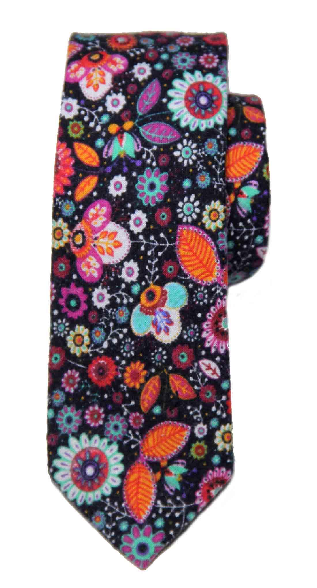Tresanti Reale Tie Multicolor Floral Cotton Men's