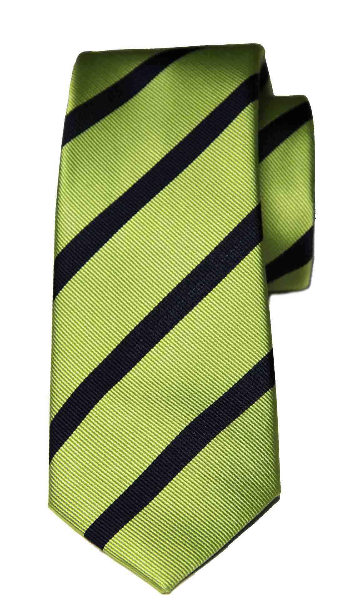 Zara Tie Green Navy Blue Striped Silk Men's