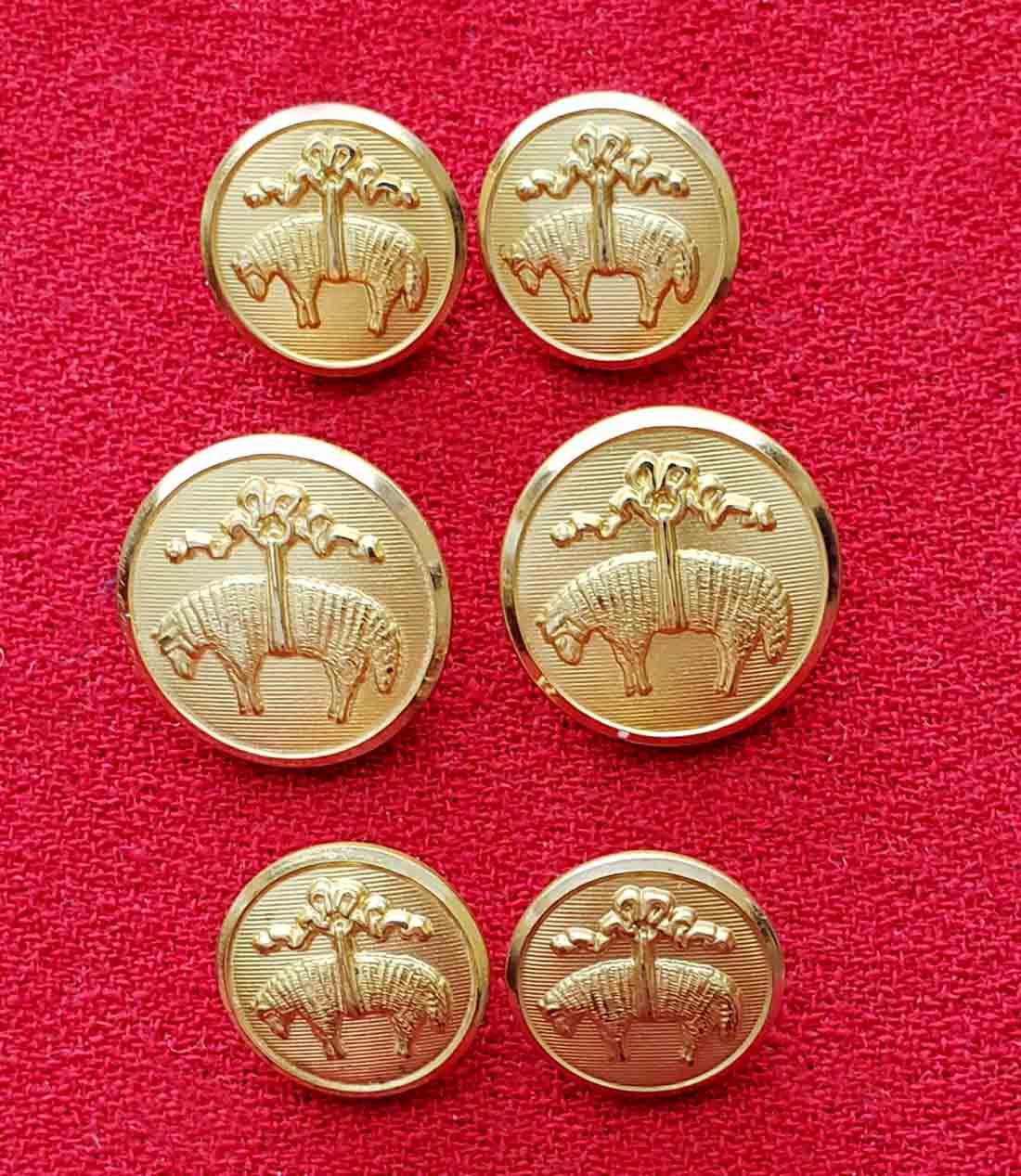 Brooks Brothers by Waterbury Blazer Buttons Set Gold Brass Golden Fleece Shank Men's
