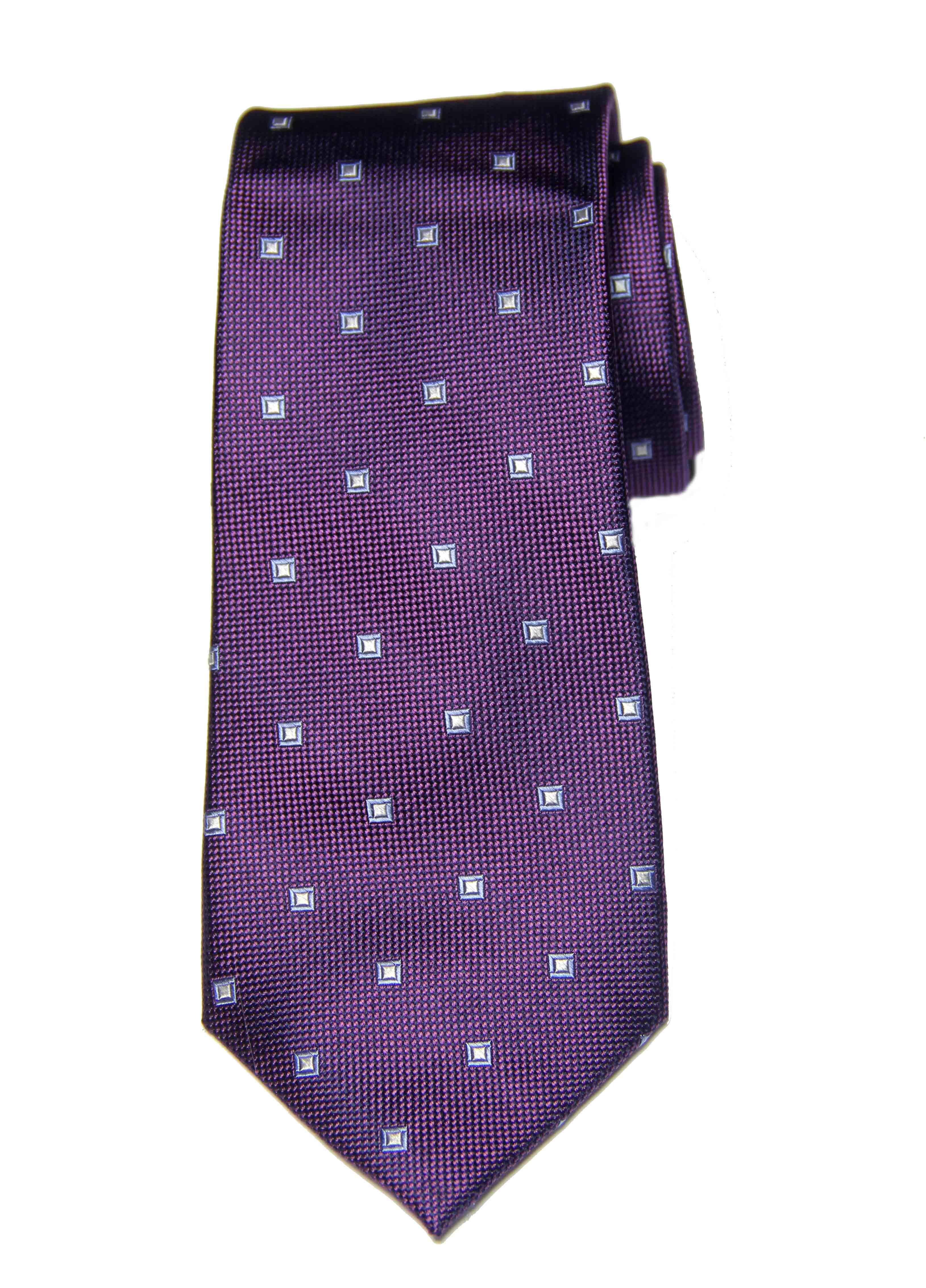 Club Room Purple Geometric Tie Jasper Textured Silk Men's