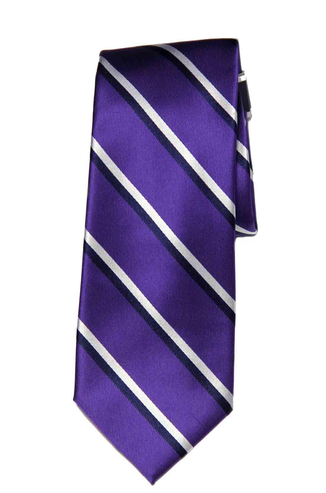Club Room Beacon Hill Stripe Tie Purple Black White Men's