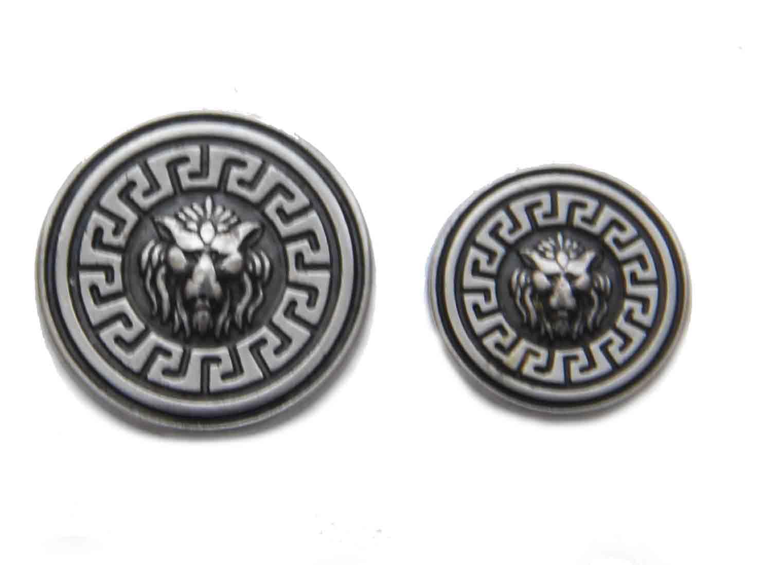Vintage Dolce & Gabbana Blazer Jacket Replacement Spare Buttons Gray Silver Lion Pattern Men's