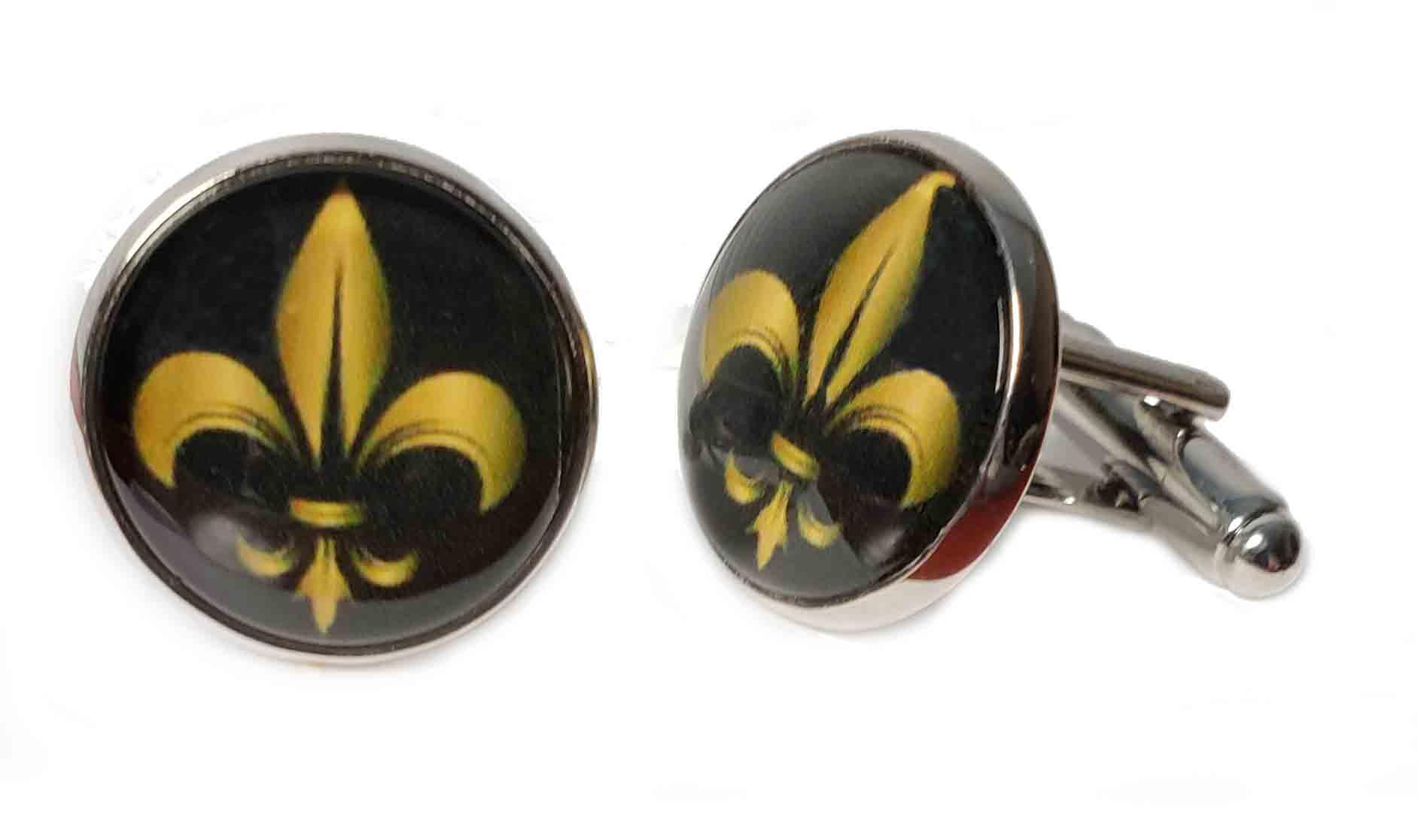 Gascoigne Cufflinks Custom Made Silver Gold Black Men's