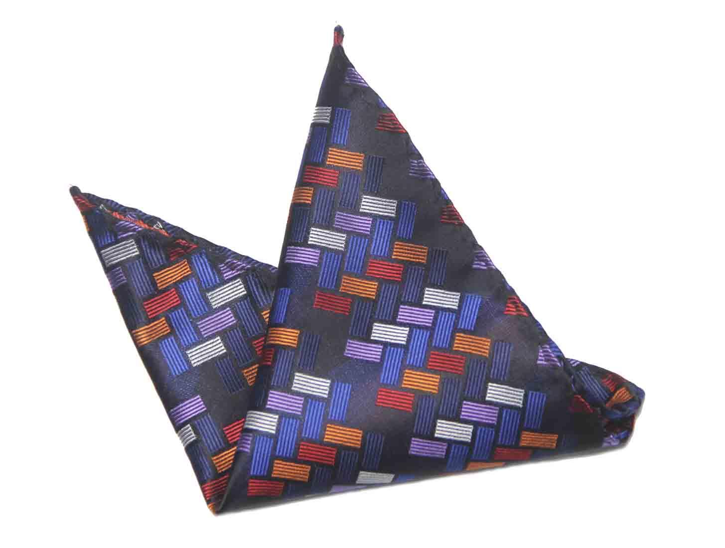 Gascoigne Pocket Square Colorful Geometric Men's