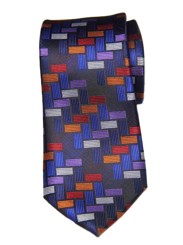 Hi-Tie for Gascoigne Silk Tie Colorful Geometric Pattern Men's