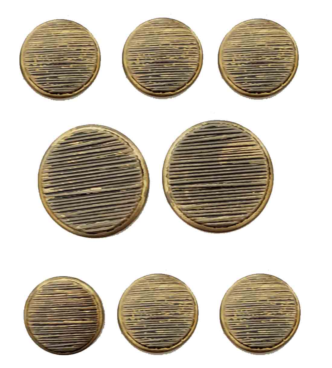 Vintage Haggar Blazer Buttons Antique Gold Gray Shank Brass Men's
