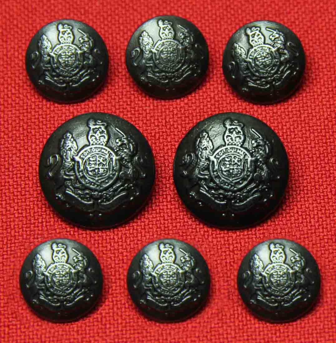 Jos. A Bank Dome Blazer Buttons Set Lion Unicorn Metal Gray Shank Men's