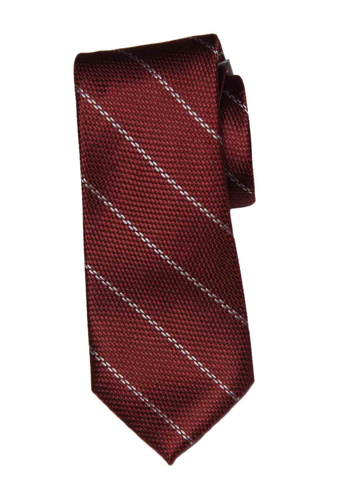 Michael Kors Tie Red White Striped Silk Men's