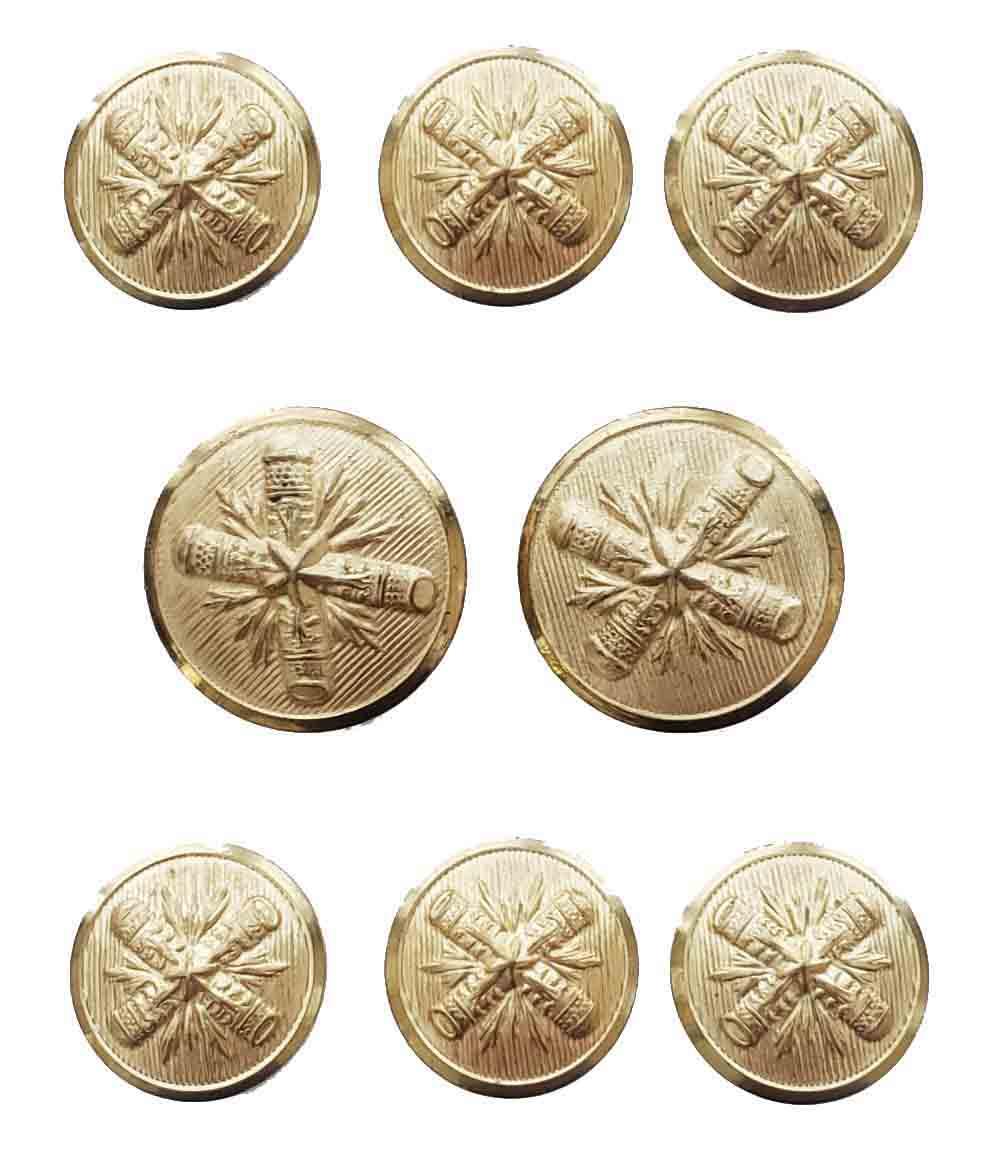 Vintage Palm Beach Blazer Buttons Set Gold Brass Starburst Shank 1982 Men's