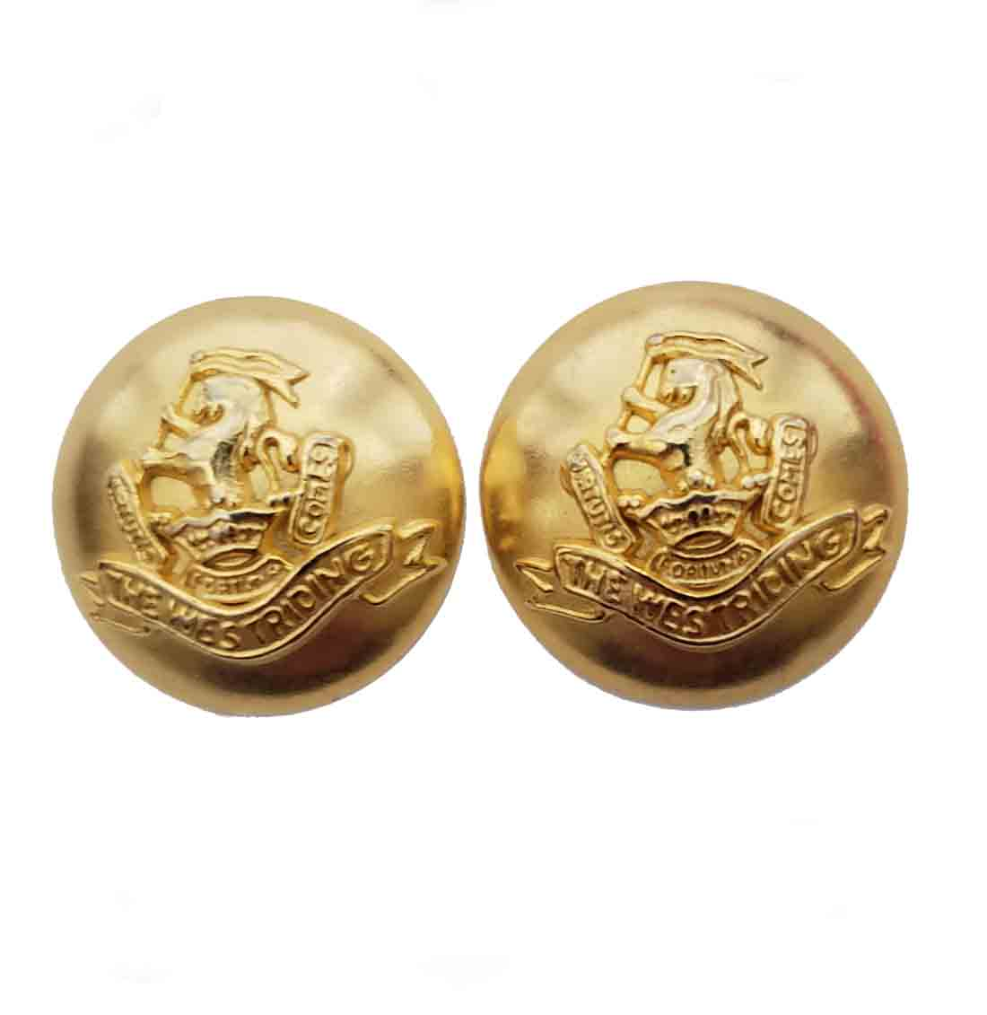 Two Duke of Wellington The West Riding Blazer Jacket Buttons Gold Brass Dome Shank Men's