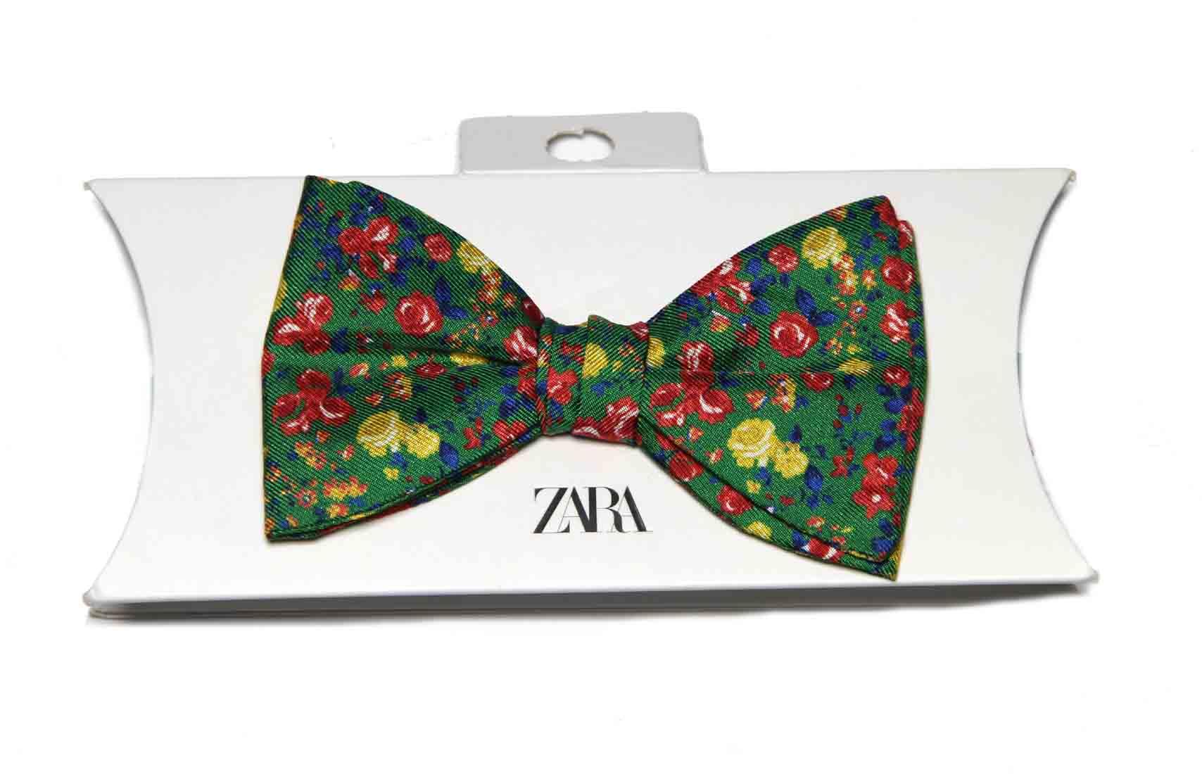 Zara Floral Bow Tie Silk Multicolor Men's